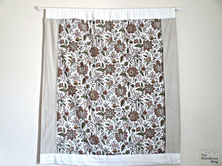 A fabric wall hanging over the bed, Wall hanging - The boondocks blog