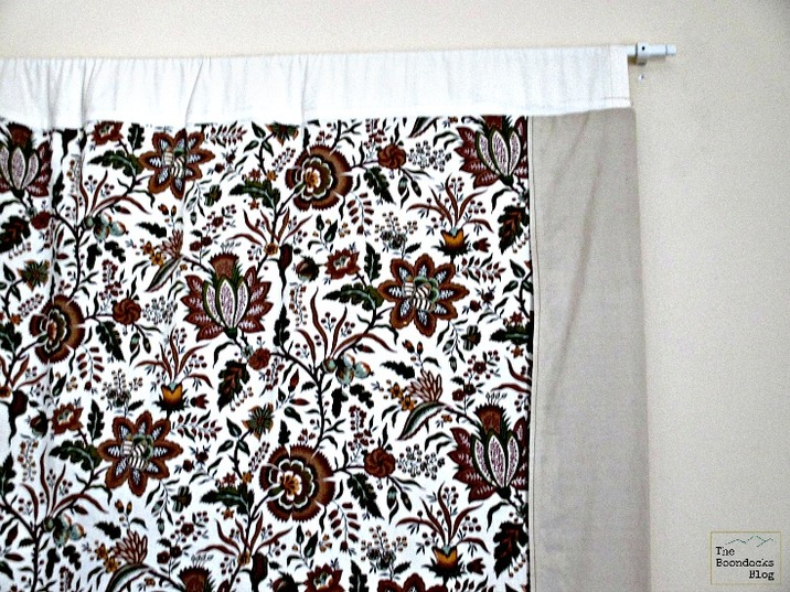 Detail of fabric wall hanging and curtain rod, Wall Hanging - The Boondocks Blog