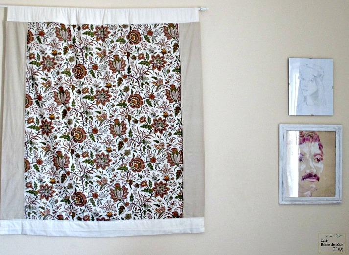 Fabric on wall, Wall Hanging - The Boondocks Blog