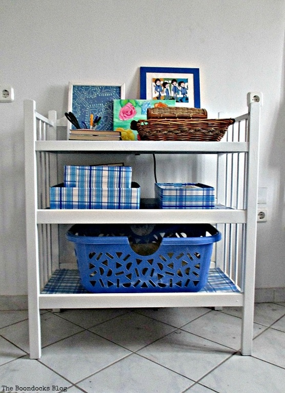 repurposed changing table, A change for the changing table - www.theboondocksblog.com