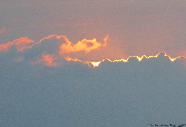 sunrise  here comes the sun theboondocksblog