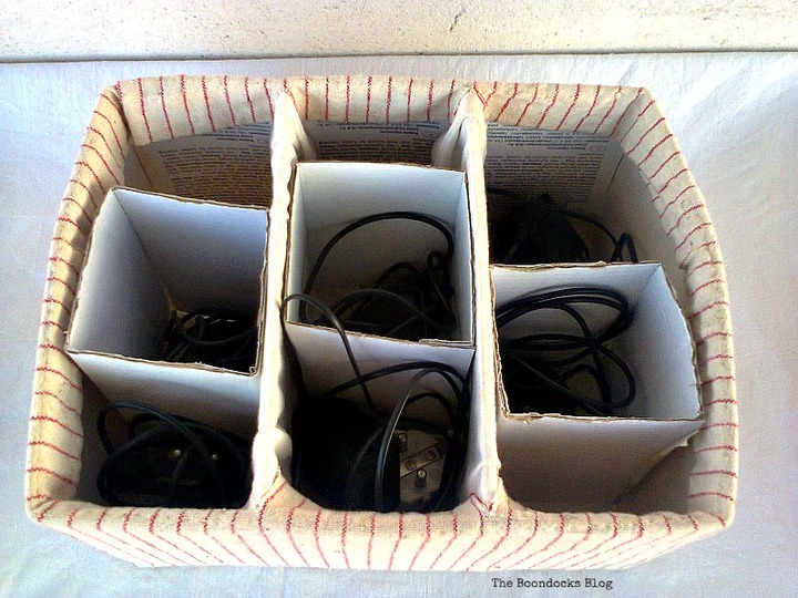 wire organizer, untangling the wires - www.theboondocksblog.com