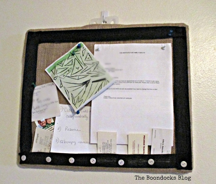 Bulletin Board My Way - www.theboondocksblog.com