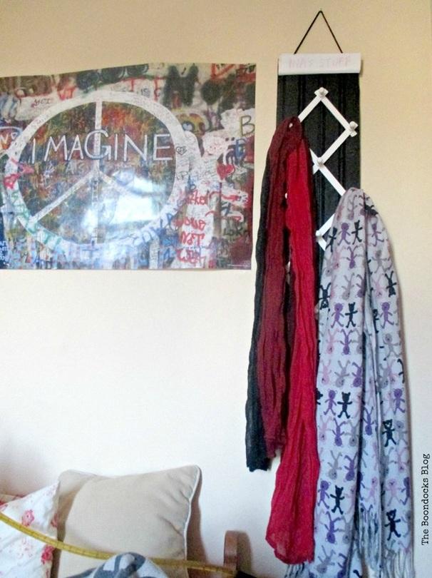 Scarf hanger for a scarf lover - www.theboondocksblog.com