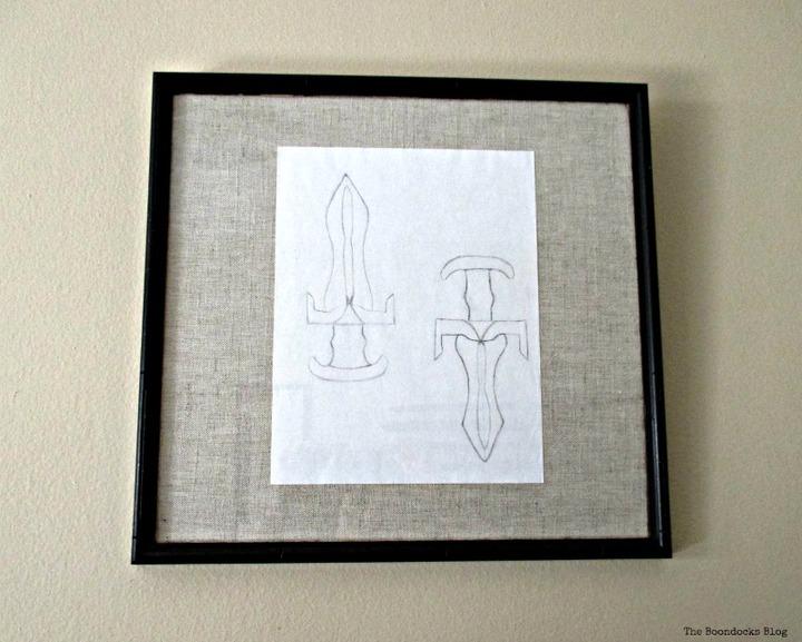 Fabric Mats for frames - www.theboondocksblog.com