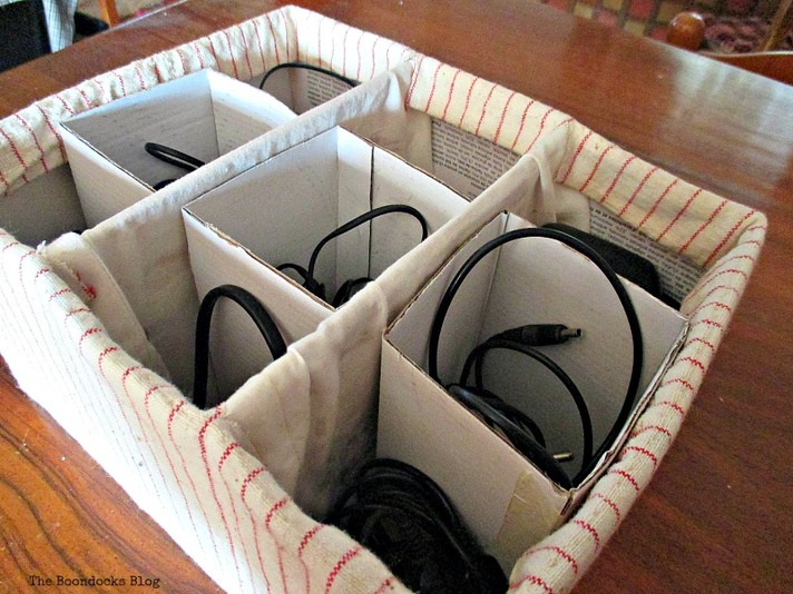 place wires separately inside, untangling the wires - www.theboondocksblog.com