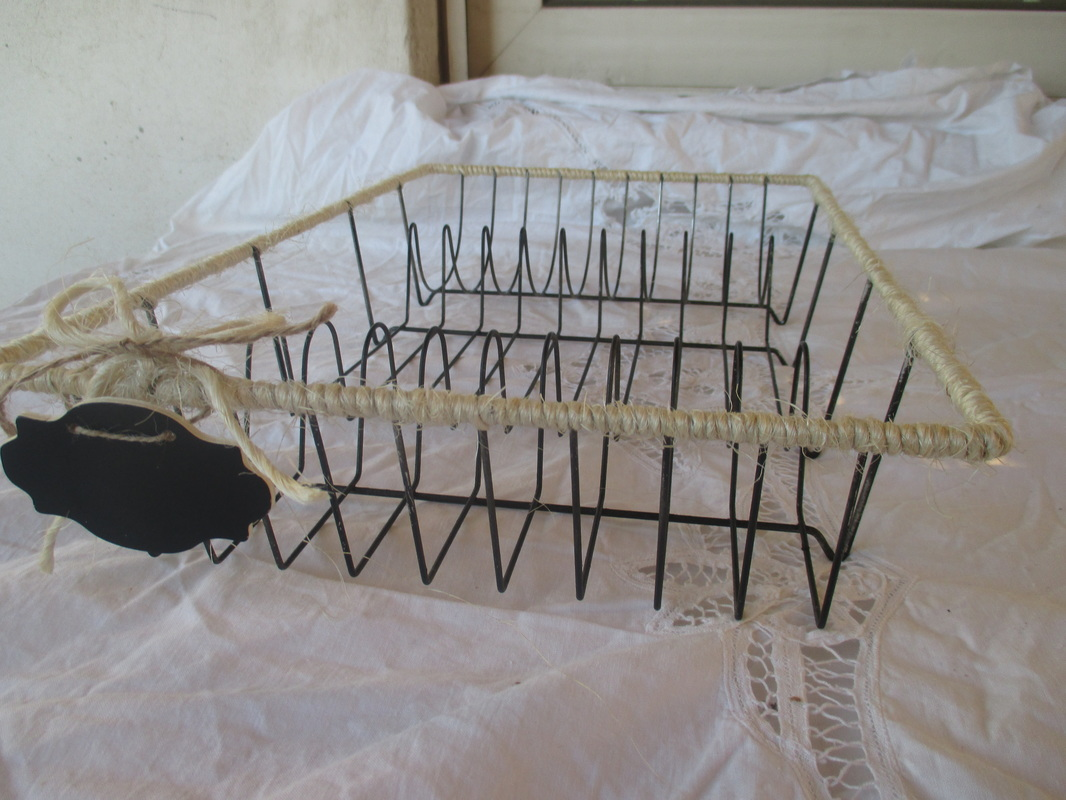 Dish rack wrapped with twine - Wrapping up the dish rack - the boondocks blog