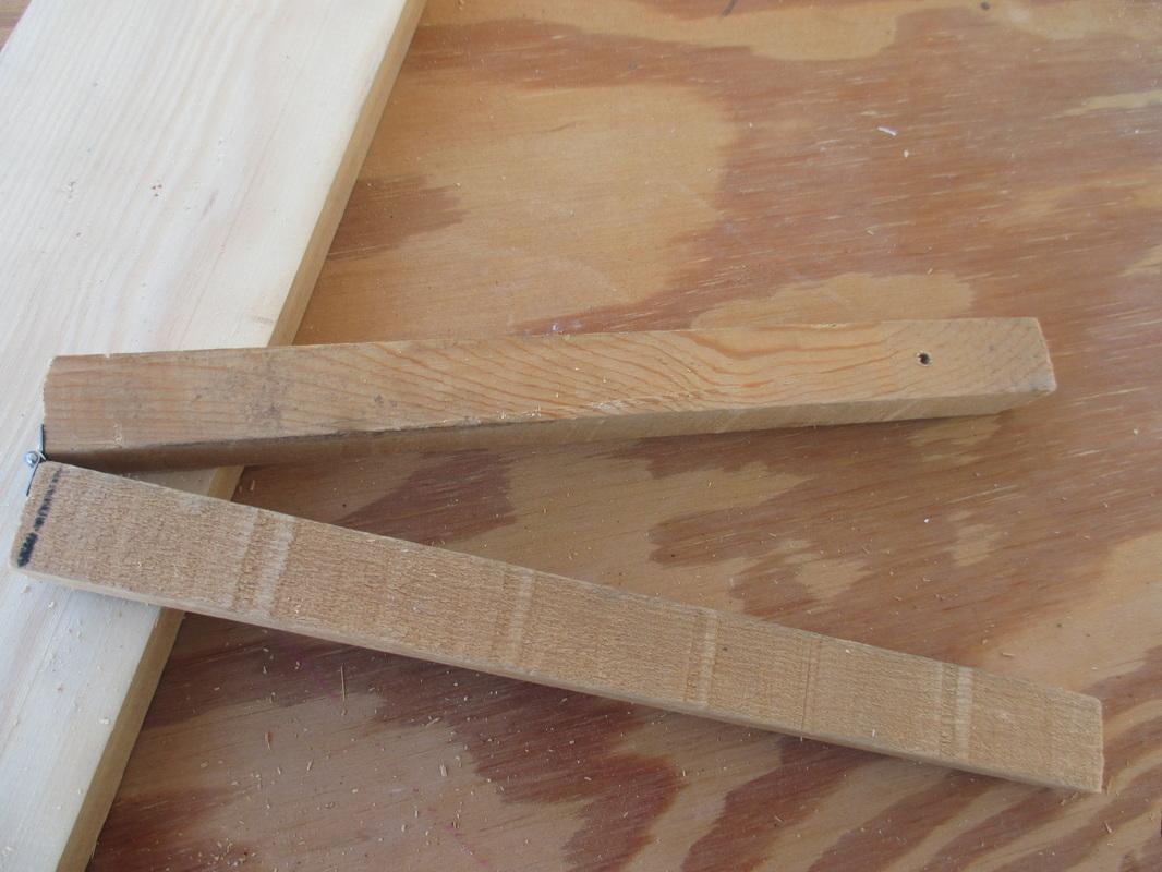 cut a long pice of slim wood in halfA sound of inspiration www.theboondocksblog.com