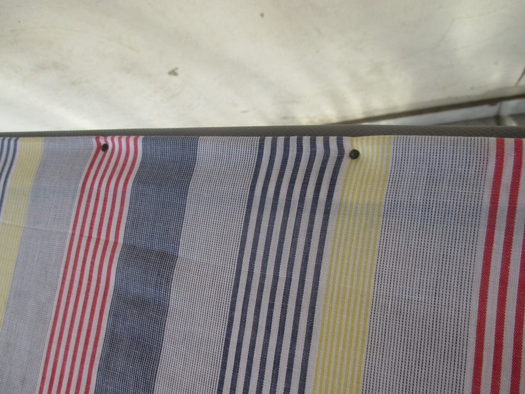 Nailing the fabric on, A little more privacy please, www.theboondocksblog.com