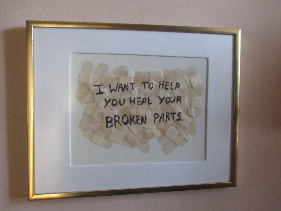 artwork in frame, saving the band aids, www.theboondocksblog.com