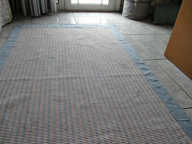 Repairing the rug, www.theboondocksblog.com