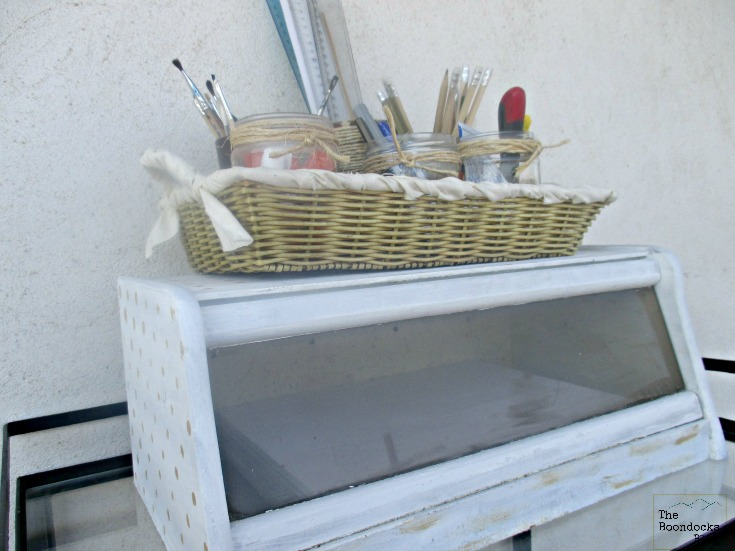 Bread box storing printer paper, New Tenant for the bread box, www.theboondocksblog.com