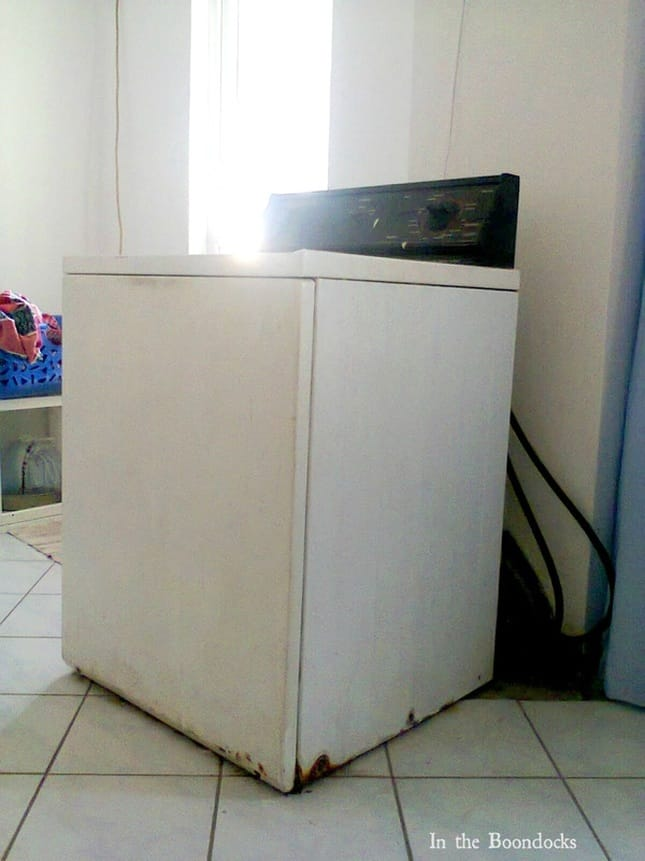 the washing machine to be hidden, Hiding the Washing Machine www.theboondocksblog.com