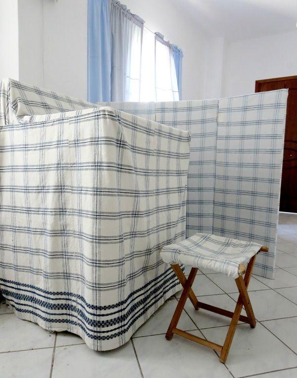 Washing machine covered in same fabric, Hiding the Washing Machine www.theboondocksblog.com