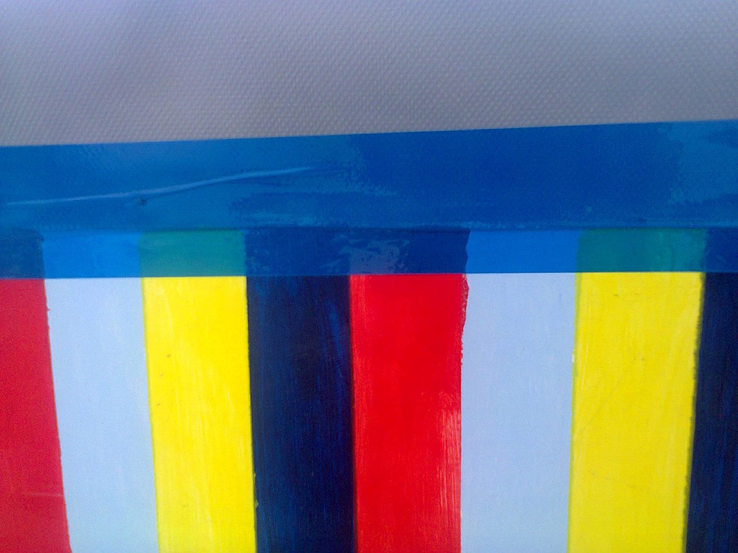 Blue tape, A Cheerful Experiment, www.theboondocksblog.com