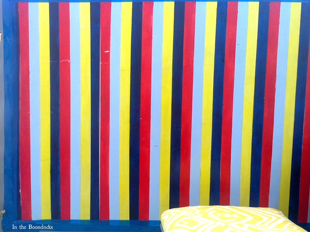 Painted laminate board, A Cheerful Experiment, www.theboondocksblog.com