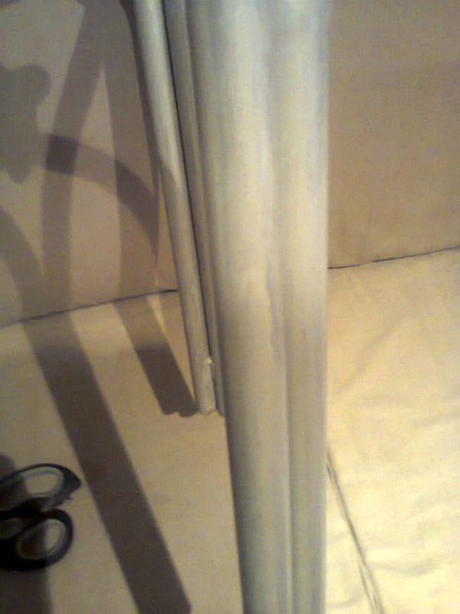Painting the legs with metallic colors, The Red Waterproof Stool www.theboondocksblog.com