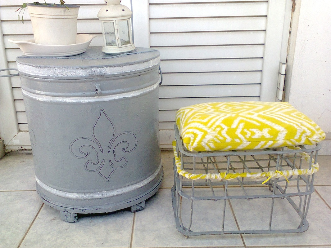 A Milk Crate turned Stool, www.theboondocksblog.com