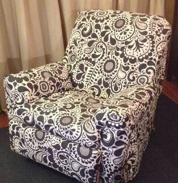 chair covered in ikea fabric The Liebster award