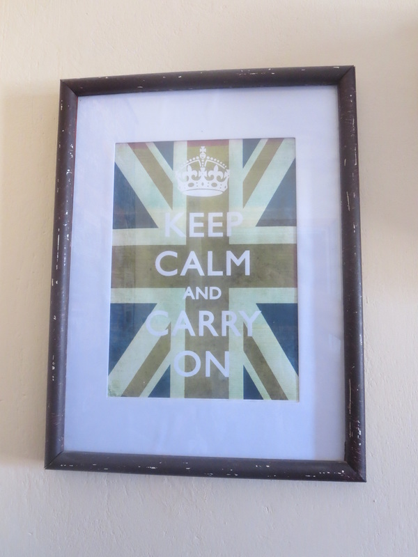 picture frame with the british flag, The Anglophile Desk www.theboondocksblog.com