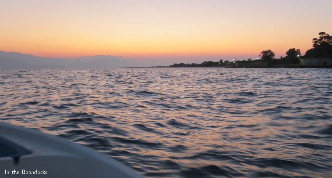 Photo essay of boat ride at sunrise, going towards the sunrise, - Magic in the Morning www.theboondocksblog.com