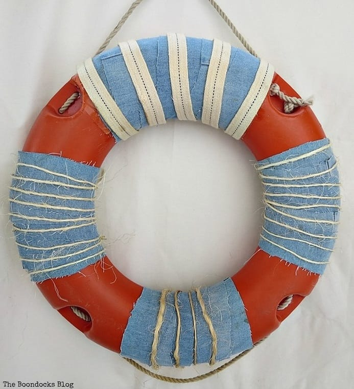 Repaired and decorated lifesaver, Saving the life saver, www.theboondocksblog.com