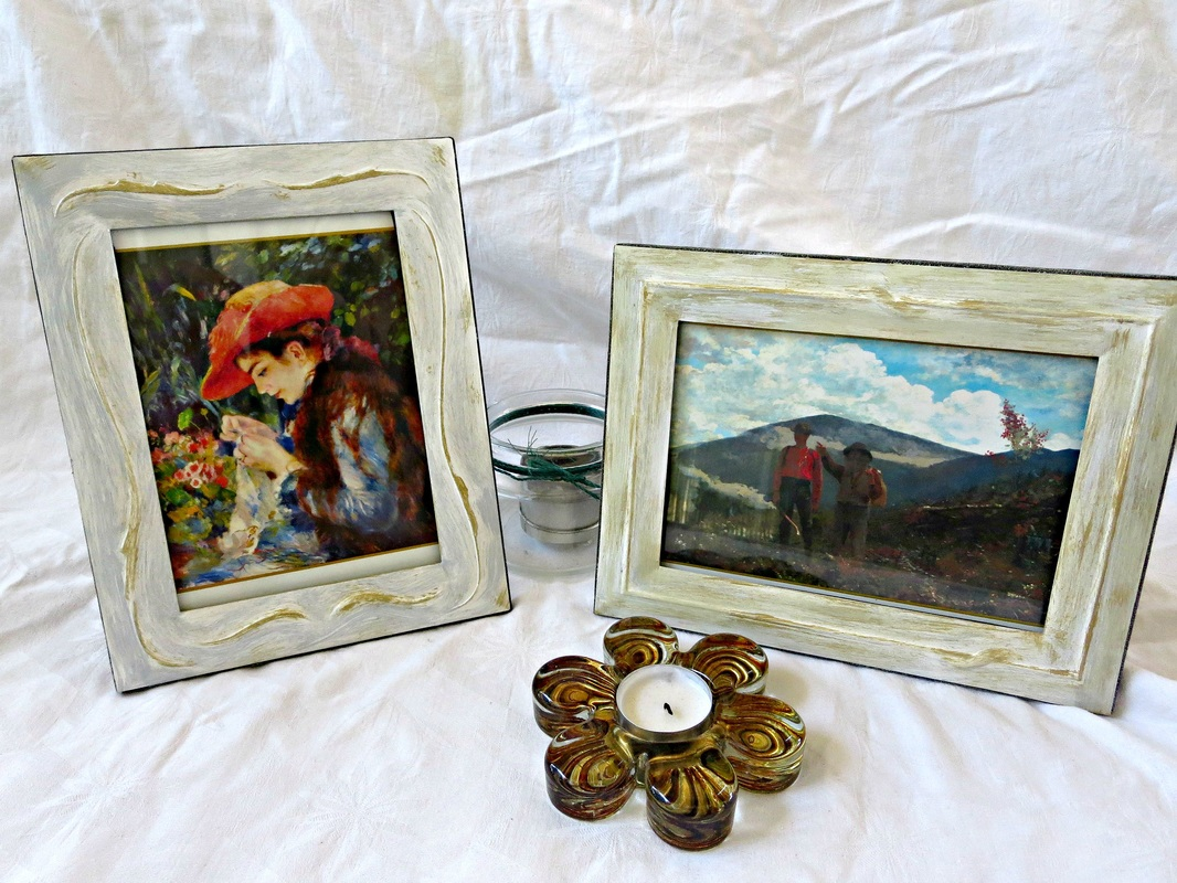 2 upcycled metal frames, Fixing the Frames www.theboondocksblog.com
