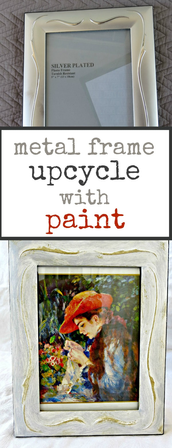 Upcycling metal frames, #framemakeover #upcycle #metalframe #newlookforoldframes #paintmakeover #frameupcycle #acrylicpaint Fixing the frames www.theboondocksblog.com