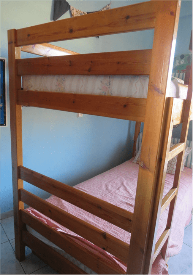 after painting the room, The Blue Bunk Bed www.theboondocksblog.com