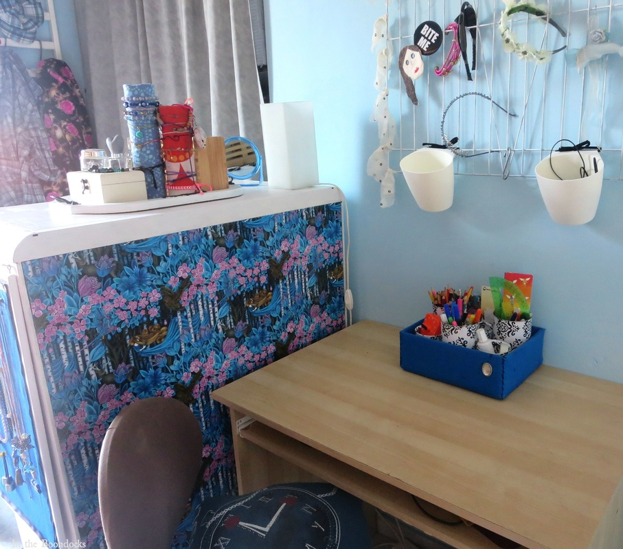 the dresser acts as a divider for the room, A Tour of the Blue Room www.theboondocksblog.com
