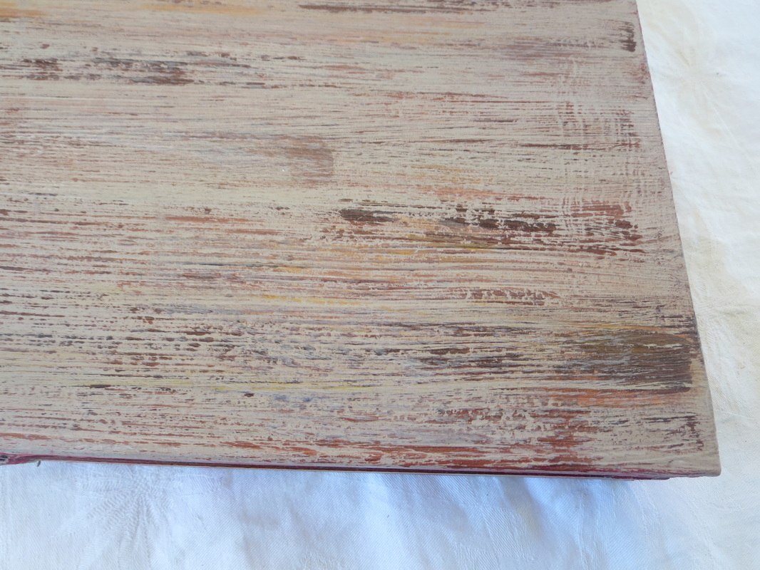 laminate made to look like old wood, Seeing Red www.theboondocksblog.com