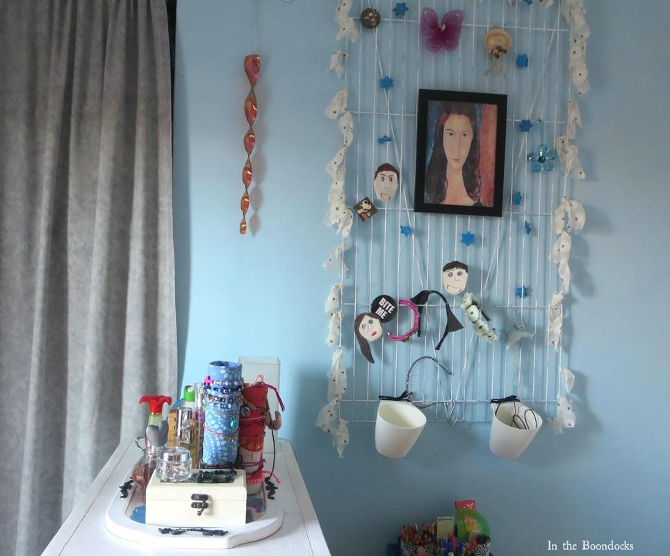 bracelet holder on top of dresser, A Tour of the Blue Room www.theboondocksblog.com