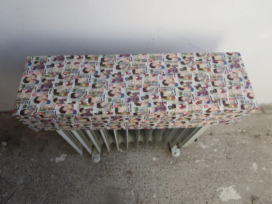 folded cardboard box with washi tape of One Direction, Hiding under the wrong direction www.theboondocksblog.com
