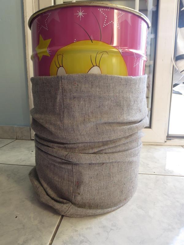 pulling the pocket over the storage, Tweety's Storage Stool www.theboondocksblog.com