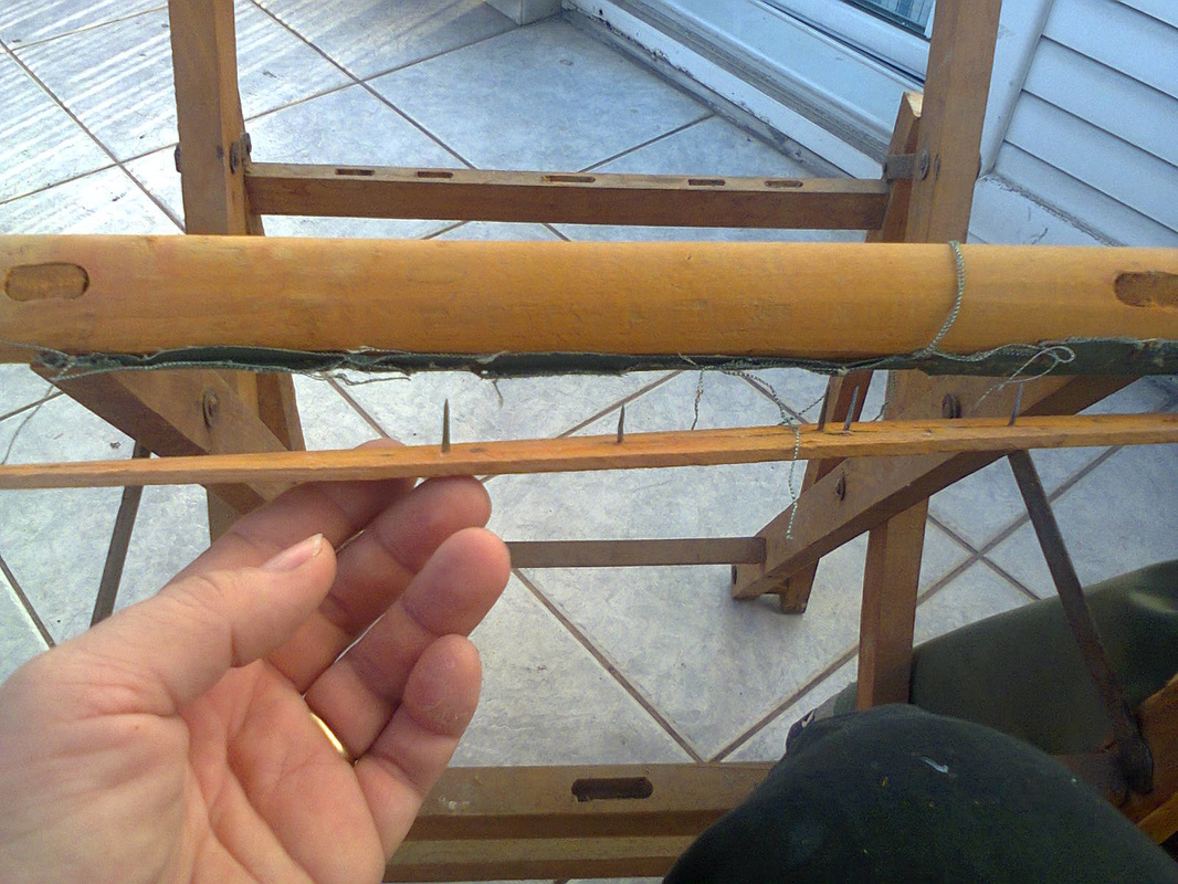 The frame of the bottom of the chair, The Showcase Table www.theboondocksblog.com