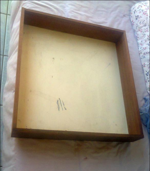 A Drawer before, A Backgammon Tray www.theboondocksblog.com
