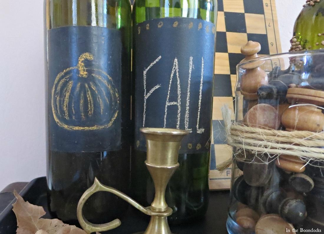 The Chalkboard Fall Vignette www.theboondocksblog.com