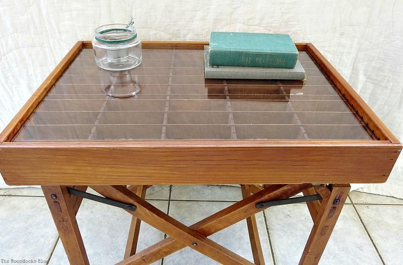 Repurposed cassette holder The Showcase Table www.theboondocksblog.com