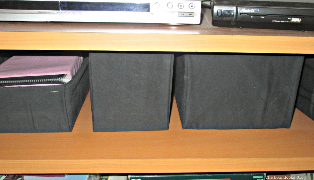 Black, white decor  The Overstuffed wall Unit, www.theboondocksblog.com