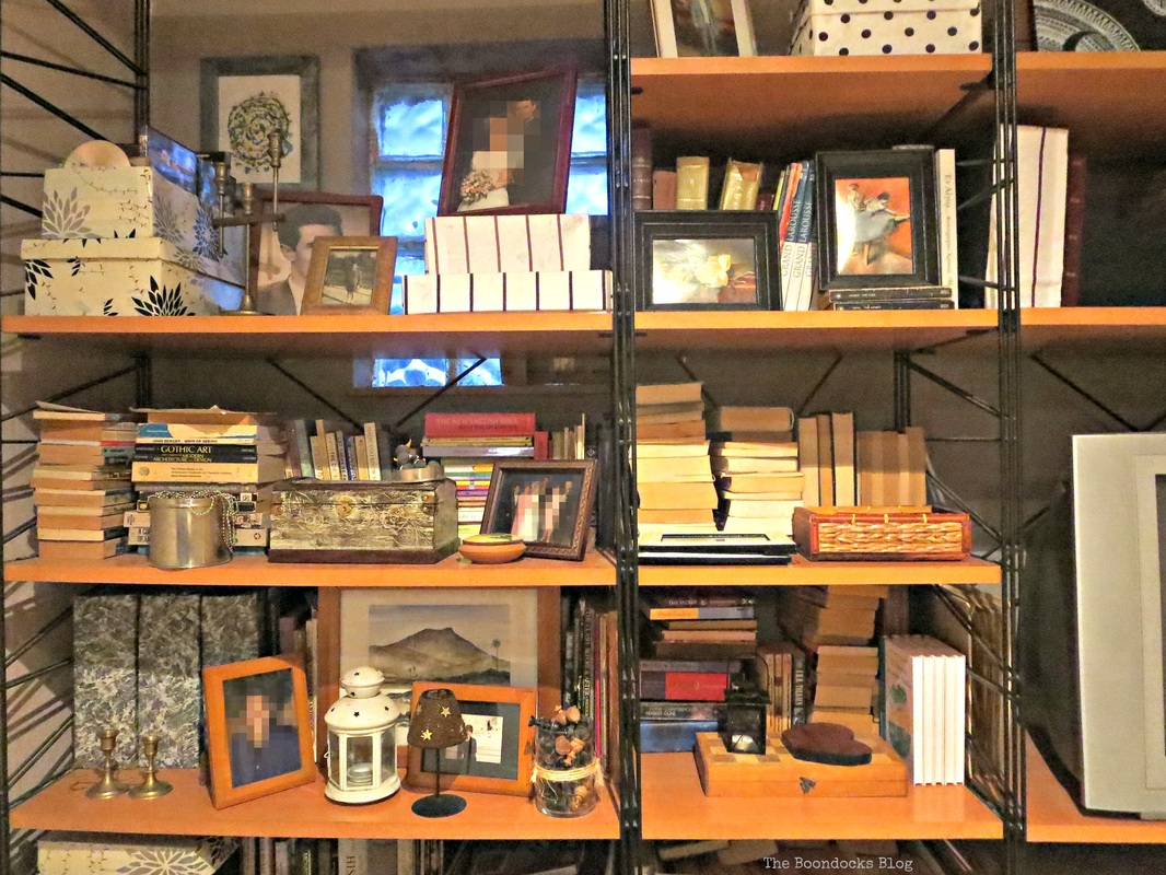 Wall Unit, Neutral, Black, white decor The Overstuffed wall Unit, www.theboondocksblog.com