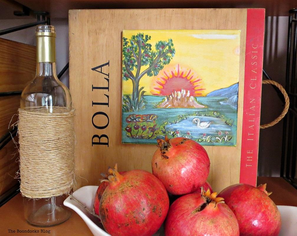 Byzantine art and pomegranates, Art and a Milestone www.theboondocksblog.com