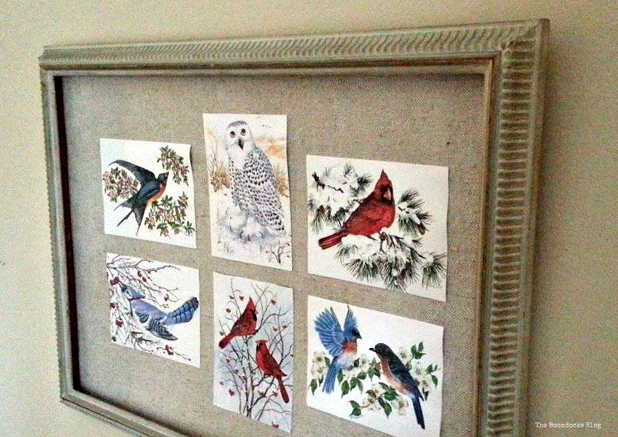 Birds of Christmas picture frame - The Boondocks Blog