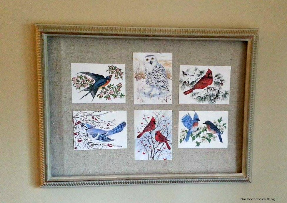 Picture Frame with Birds of Christmas - The Boondocks Blog