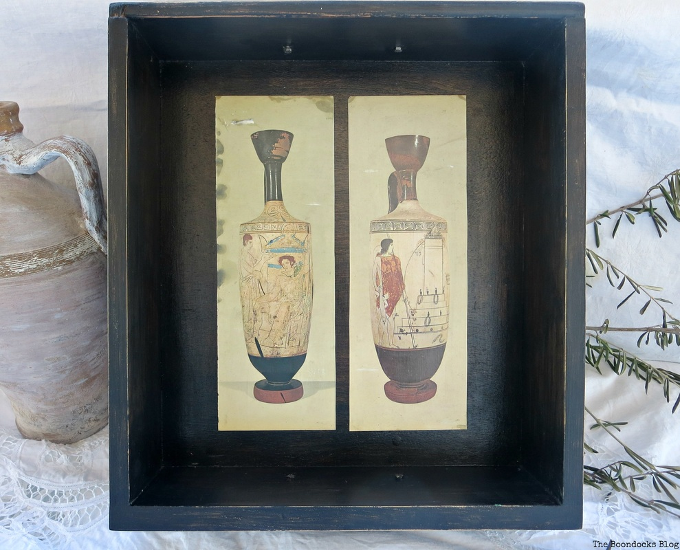 decoupaged Ancient Vases An Ancient Tray www.theboondocksblog.com