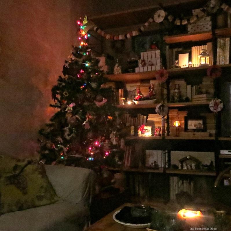 Night lit tree, Home for Christmas Blog Hop - the Boondocks Blog