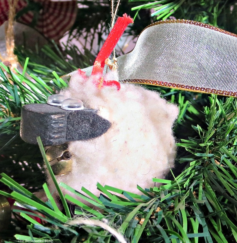Sheep ornament on Christmas tree The Inspiration for my Christmas tree - the Boondocks Blog