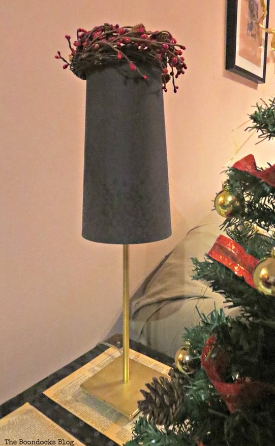 Lamp, Home for Christmas Blog Hop - The Boondocks Blog