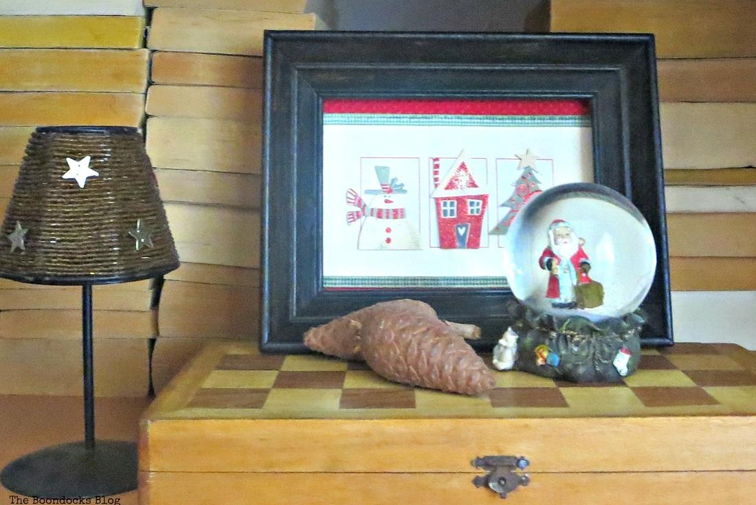 Framed Christmas card, Home for Christmas Blog Hop - The Boondocks Blog