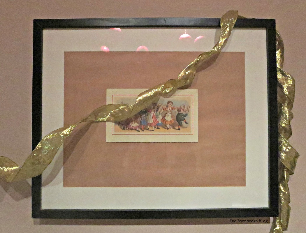 Picture frame wide, with Vintage Christmas Card, Home for Christmas Blog Hope - The Boondocks Blog