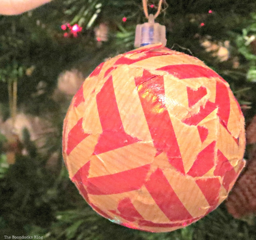 Decoupaged bauble on Christmas The Inspiration for my Christmas tree - The Boondocks Blog